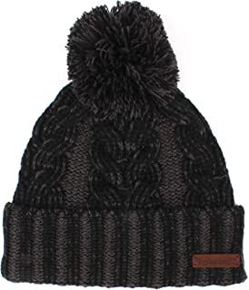 Timberland womens Plaited Cable Cuff Hat Cold Weather Hat