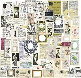 Vintage Journaling Washi Stickers Ephemera by CATaireen Decoupage Paper Embellishments Scrapbook Accessories Starter Kit I...