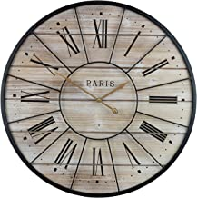 Sorbus Paris Oversized Wall Clock, Centurion Roman Numeral Hands, Parisian French Country..