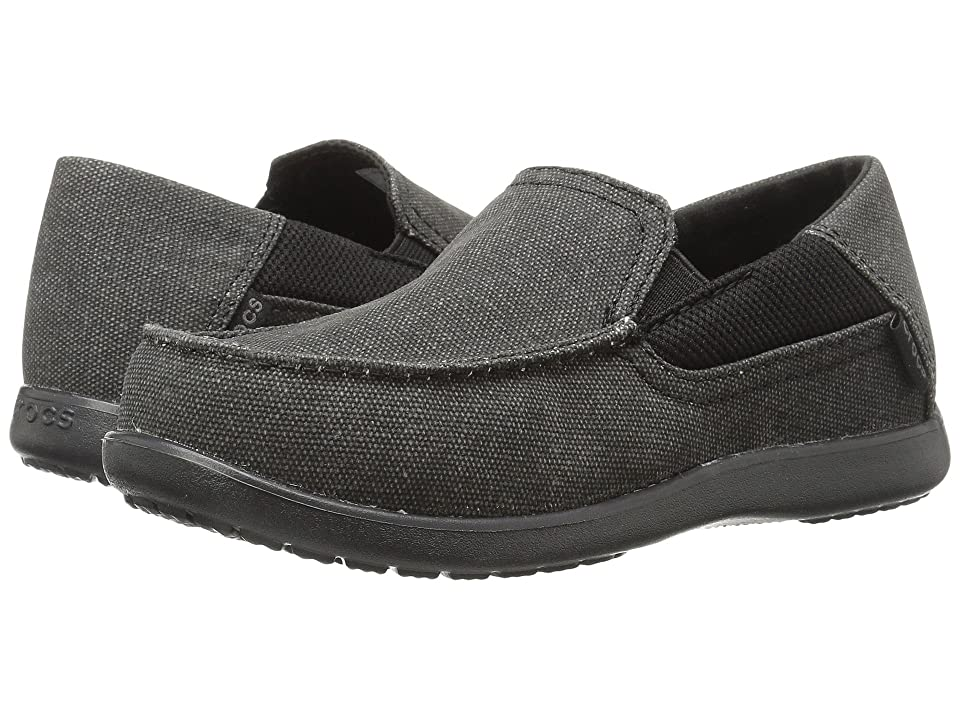 Crocs Kids Santa Cruz II GS (Little Kid/Big Kid) (Black/Black) Boy