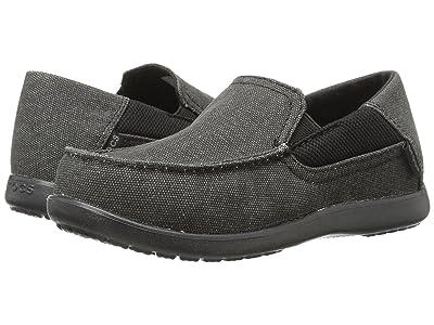 Crocs Kids Santa Cruz II GS (Little Kid/Big Kid) (Black/Black) Boy