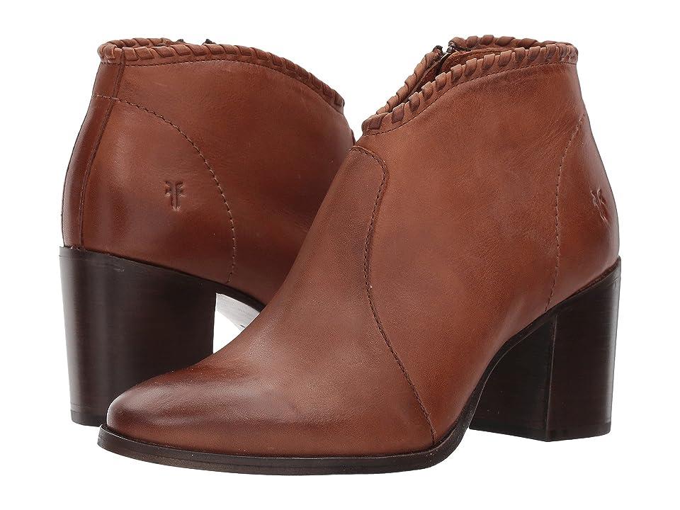 Frye Nora Whipstitch Shootie (Cognac Leather) Women
