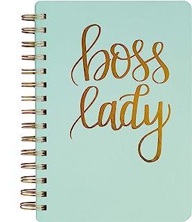 Mint Boss Lady Lined Spiral Notebook Journal Gold Office Decor Chic Empowerment Girl Boss Babe Writing Entrepreneur Inspir...