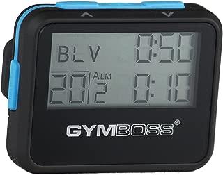 Gymboss インターバルタイマーとストップウォッチ - ブラック/ブルー ソフトコート