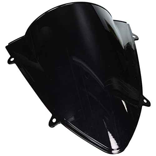 Areyourshop Windshield WindScreen Double Bubble For Kawasaki Ninja 250 250R EX250 2008-12 Black