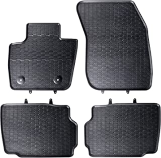 4-teilige schwarze Gummifußmatte für FORD Mondeo V// V Hybrid// V Vignale