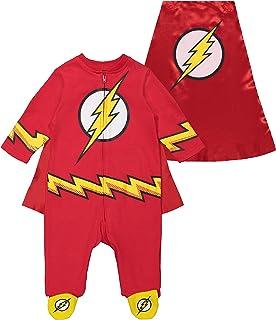 Warner Bros. Warner Bros. DC Comics Justice League The Flash Strampler, Overall, Kostüm für Kinder und Kleinkinder, 0-3 Monate