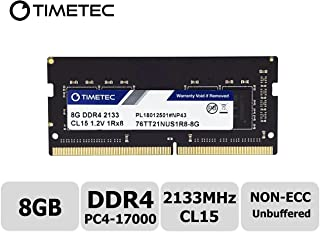 Timetec Hynix IC 8GB DDR4 SODIMM for Intel NUC KIT/Mini PC/HTPC/NUC Board 2133MHz PC4-17000 Non ECC Unbuffered 1.2V CL15 1Rx8 Single Rank 260 Pin Computer Memory Ram Module Upgrade(8GB)