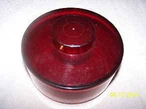 Tupperware Cranberry Acrylic Candy Dish