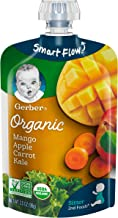 Gerber Organic 2nd Foods Baby Food, Mangoes, Apples, Carrots & Kale, 3.5 oz Pouch, 12 count