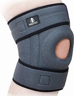 QMU 膝サポーター スポーツ 膝パッド 医療用 膝当て ランニング 登山対応 痛み 怪我防止 膝周り30-42cm 左右兼用 1点セット グレー