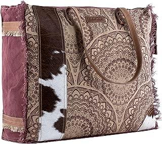 Sixtease Peripatetic Upcycled Canvas & Genuine Leather Weekender Bag SB-2159