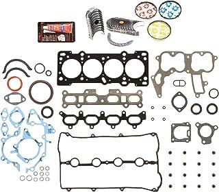 Evergreen Engine Rering Kit FSBRR6022EVE000 Fits 91-98 Mazda Ford Kia 1.8 DOHC BP Fits Full Gasket Set, Standard Size Main Rod Bearings, Standard Size Piston Rings
