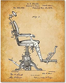 Dentist Chair - 11x14 Unframed Patent Print - Makes a Great Gift Under $15 for Dentists or Dental Students