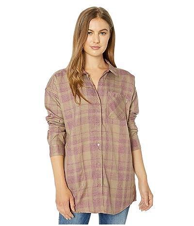 Burton Teyla Flannel Long Sleeve T-Shirt (Rose Brown Marcy Plaid) Women