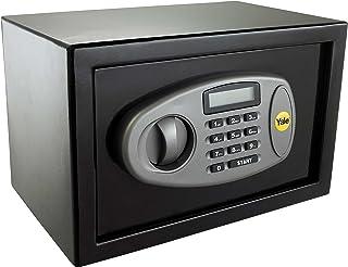 Yale Locks YALYSS - Caja fuerte digital, Pequeña, Construcción de acero, Pantalla LCD, Llave de anulación de emergencia, Capacidad de 8 litros