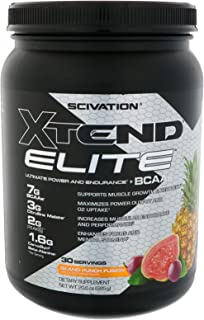 XTEND Elite BCAA Powder Island Punch Fusion | Sugar Free Post Workout Muscle Recovery Drink with Amino Acids | 7g BCAAs fo...