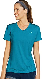 Champion Women's Double Dry V-Neck Tee