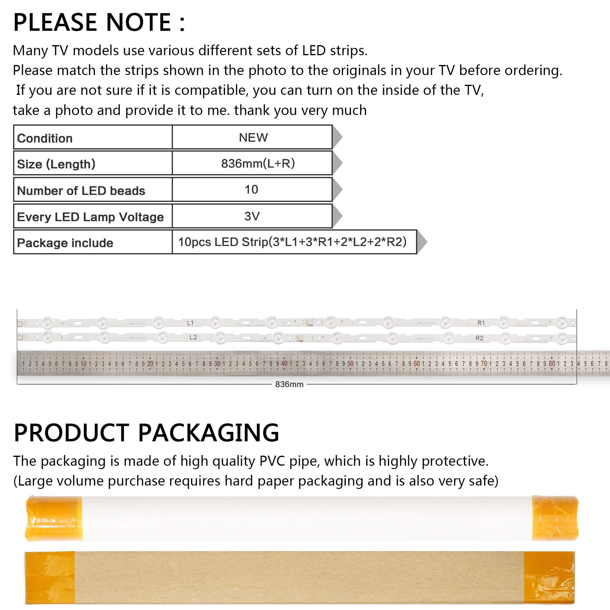 Calvas - Tira LED para LG 42 V13 cDMS Rev1.0 1 L1 R1 L2 R2-Type 6916L-1402A 6916L-1403A 6916L-1404A 6916L-1405A 42LN5200 42LN5300: Amazon.es: Bricolaje y herramientas