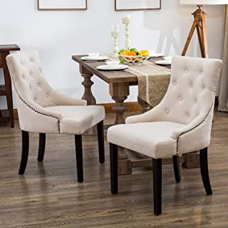 Mecor Fabric Dining Chairs Set of 2,Leisure Padded Chair...