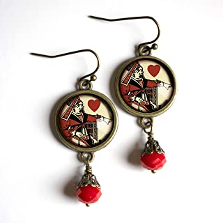 Alice in Wonderland Red Queen Earrings
