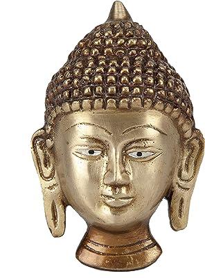 Essential Art Buddha Face Brass Wall Hanging