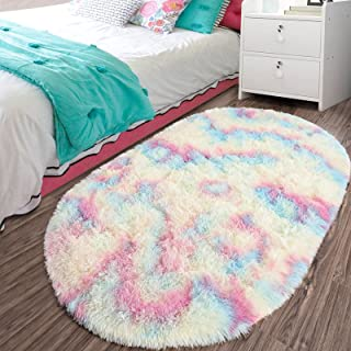 LOCHAS Luxury Rainbow Area Rugs for Bedroom Girls Room,...