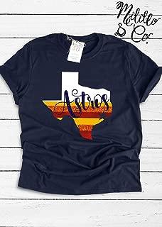 Astros T-shirt Baseball Tee Womens Astros Shirt Houston MLB Shirt Women Houston Top Womens Astros Tees Astros Shirt Houston Astros Fan Gift