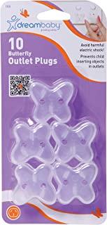 Dreambaby Butterfly Outlet Plugs, 10 Pack