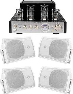 """Rockville BluTube Tube Amplifier/Home Theater Receiver+(4) 5.25"""" Swivel Speakers"""