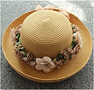 Women's Boater Sun Hats Wheat Panama Summer Hats for Women Boater Chapeau Paille Ladies Straw Hats