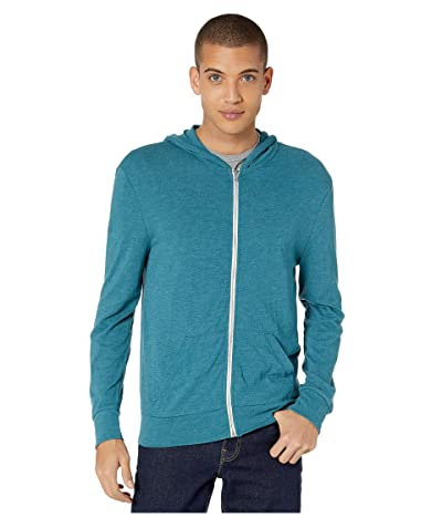 Alternative L/S Zip Hoodie (Eco True Alpine Teal) Men