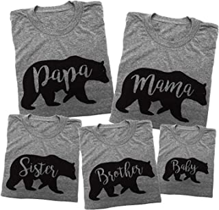 Matching Bear Family Shirt Set - Customize Your Family Individually Made in USA