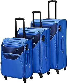 AT by Samsonite 3-Piece Softside Trolley Luggage Set (22, 27 & 31 Inch) - Royal Blue