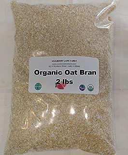 Oat Bran 2 Pounds 100 Percent Oat Bran, Ground Fine USDA Certified Organic, Non-GMO, Bulk