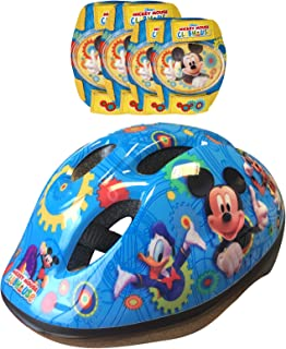 Disney-K865507 Mickey Mouse Casco, Coderas y Rodilleras para