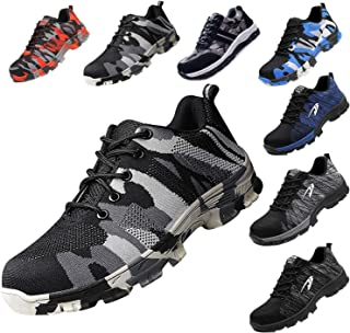 Steel Toe Work Shoes for Men Women Safety Shoes Breathable Industrial Construction Shoes