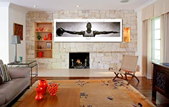 Michael Jordan Wings Panoramic& 100 Bill Cash Poster Canvas Print Home Decor Wall