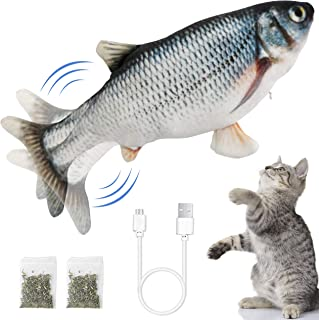 Ozoosh Pets Electric Flopping Fish Cat Toy Interactive Cat Toys Dog Toy Catnip Toy Chew Toys Floppy Fish Cat Kicker Toy fo...