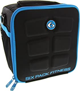 6 Pack Fitness Cube Americas #1 Choice in Meal Management 3 - Meal (Black/Neon Blue)