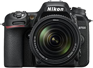 Nikkon D7500 - Cámara réflex Digital de 20.9 MP (Pantalla LCD 3.2 4K/UHD SnapBridge Bluetooth WiFi) Color Negro - Kit con Objetivo AF-S DX 18-140 mm f/3.5-5.6G ED VR