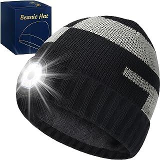 قبعة صغيرة مع ضوء LED ، هدايا للرجال والنساء ، قبعة صغيرة LED قابلة لإعادة الشحن USB ، حشوات تخزين عيد الميلاد ، 5 أضواء L...