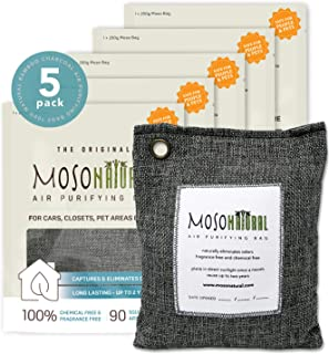 MOSO NATURAL: The Original Air Purifying Bag. for Cars, Closets, Bathrooms, Pet Areas. an Unscented, Chemical-Free Odor El...