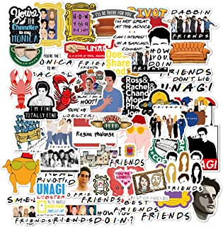 Friends TV Show Merchandise Stickers Pack of 50 Stickers-Funny Quote Waterproof Vinyl Stickers for Laptop Hydro Flasks Wat...