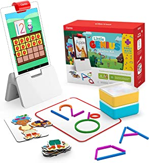 Osmo - Little Genius Starter Kit for Fire Tablet + Early Math Adventure - 6 Educational Games - Ages 3-5 - Counting, Shape...