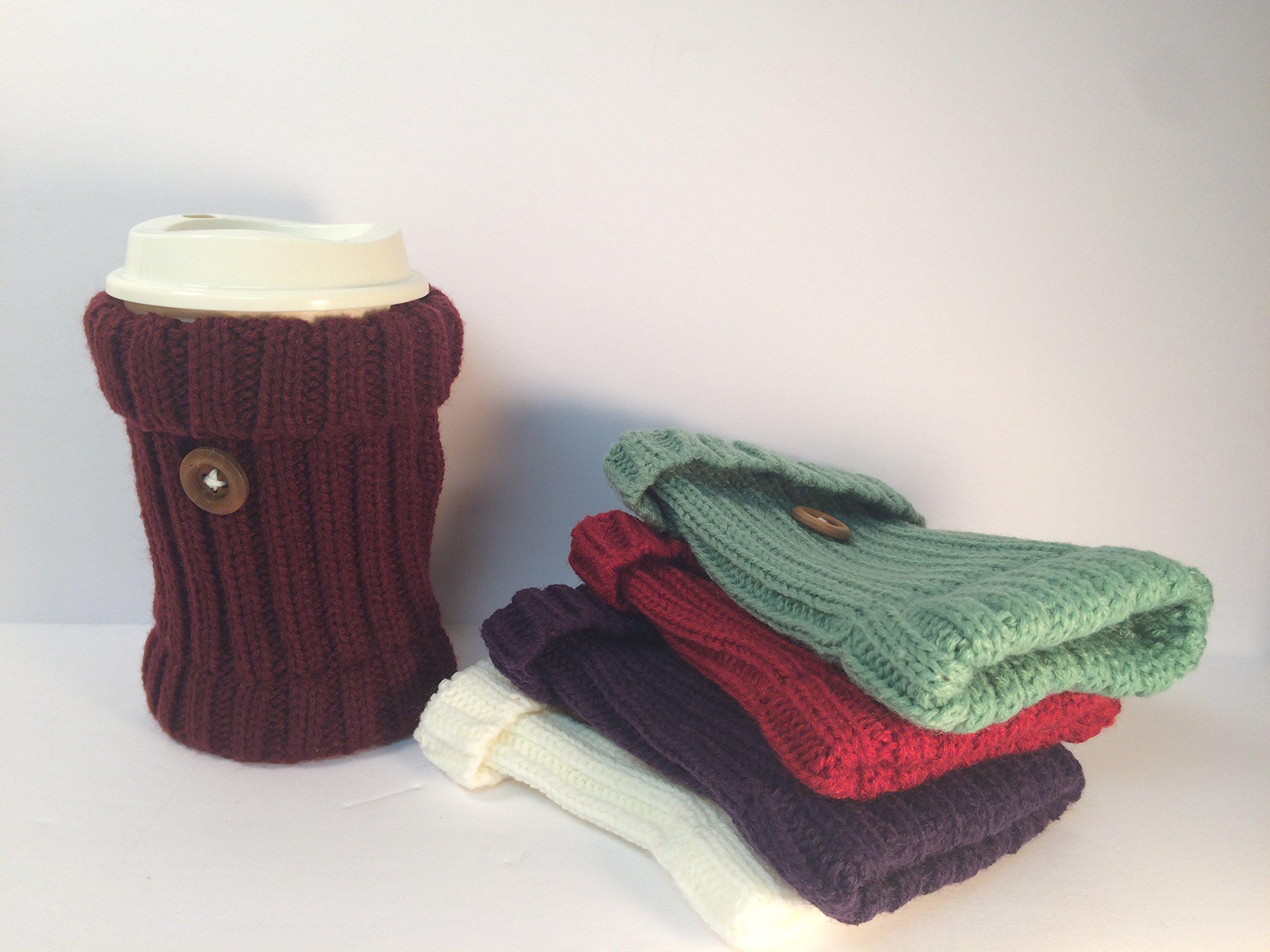 Cup Cozy Hand Warmer Cup Sleeves Hand Warmer Cozies Cup Sleeve Coffee Sleeve Hand Warmer Sleeve Tea Cozy Crochet Sleeve Denim Cozy