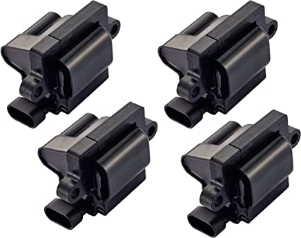 Pack of 4 Square Ignition Coils for Cadillac Chevrolet GMC Sierra Silverado Yukon 1500 2500 3500