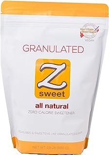 Z SWEET All Natural Zero Calorie Sweetener – Granulated 24 Oz. Non-GMO, Gluten-Free, No Glycemic Impact Erythritol Sugar A...