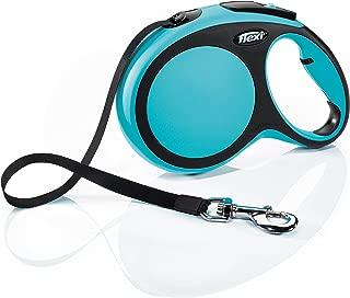 FLEXI New Comfort Retractable Dog Leash (Tape), 26 ft, Large, Blue