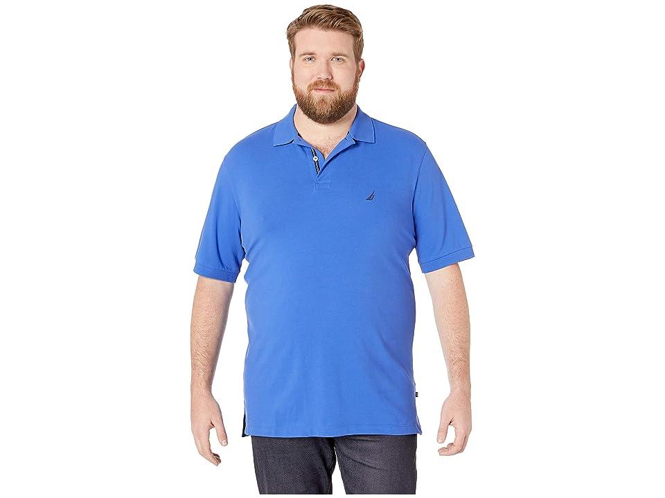Nautica Big & Tall Big Tall Short Sleeve Solid Deck Shirt (Cobalt Wave) Men